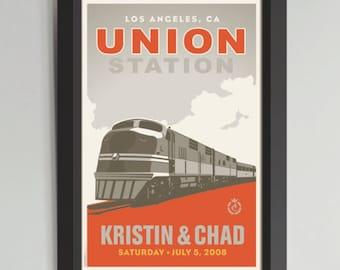 Union Station Framed Wedding Art (Medium)