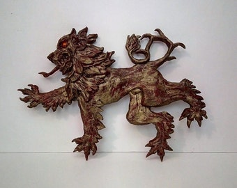 Lion Rampant Polymer Clay Sculpture