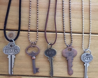 Life, Dreams, # Key Necklaces