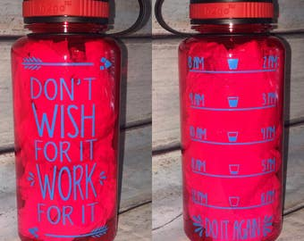 34 oz. Custom Inspirational Water Bottle with tracker *This listing is for a RED color bottle*
