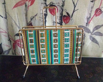 Vintage 1960's Retro Kitsch funky wire and vinyl letter rack.
