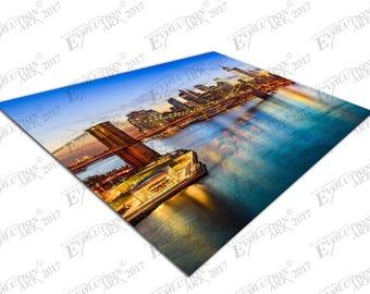 Print on Canvas Brooklyn Bridge Manhattan New York city USA X1661
