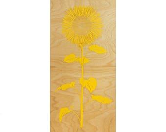 Sunflower Wall Art   10x22 | Sunflower Wall Art | Sunflower Decor | Flower  Art | Part 63