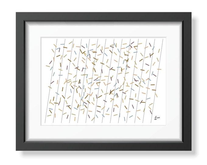 Pi sticks 03 [mathematical abstract art print, unframed] A4/A3 sizes