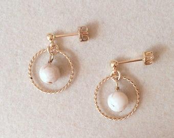 Riverstone Gold Earrings