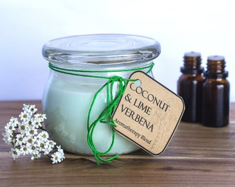 Coconut & Lime Verbena Handmade Aromatherapy Soy candle