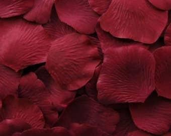 Crimson Silk Rose Petals, 1000 petals