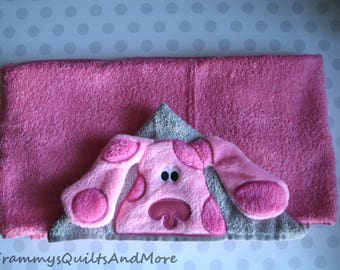 Pink Dog Hooded Towel