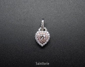 0.1 Carat Pink Diamond Pendant