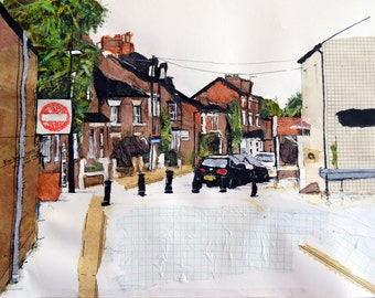 Didsbury Whitechapel Street, Manchester - Contemporary limited edition print.