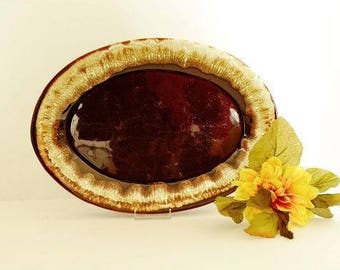 Brown Drip Serving Platter from Pfaltzgraff