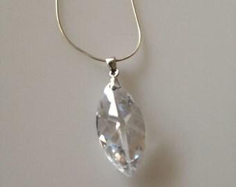crystal necklace, swarovski crystal necklace, wedding necklace,  bridal necklace,  wedding jewelry, brided necklace