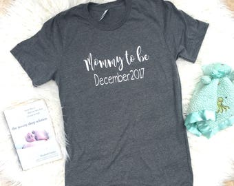 Mommy to be, Cute pregnancy announcement, Maternity shirt, shirt for new mom, Baby shower shirt, maternity photos, expecting mom