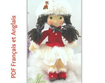 Pattern skater clothine, pattern clothing, skater, red, Patron vêtement patineuse, patron habit, patineuse, rouge