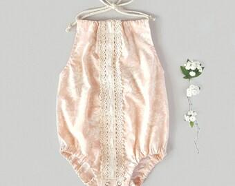 Rose Romper, Bohemian romper, Boho  Baby, Boho Baby Clothes, Boho Toddler, Boho Baby Romper, Bohemian Baby, Vintage Romper, Baby girl