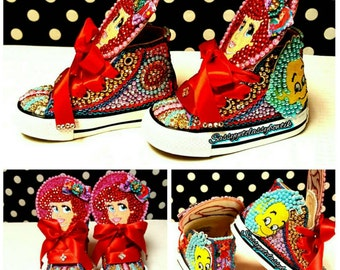 Disney Princess, Little Mermaid birthday shoes, Princess Ariel birthday sneakers, Princess shoes, Under the Sea Sneakers, Little Mermaid