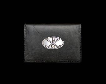 Golf Clubs with Flag Business Card Case