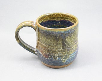 Pottery Coffee Mug Yellow Salt & Stellar Purple YSSP49