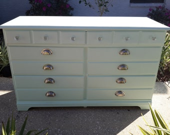 Sold! Beautiful Solid Wood Vintage Dresser