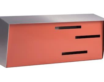 Mid Century Modern Mailbox | Modern Mailbox | Two Tone Stainless