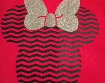 Minnie Chevron T-shirt