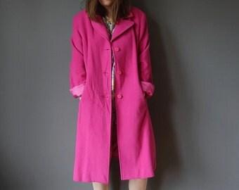 Bright pink winter coat