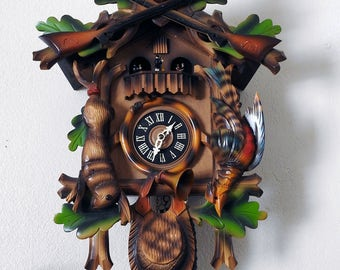 Black Forest Hunter Cuckoo Clock (working)