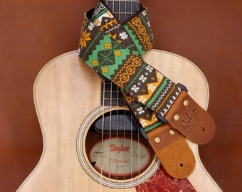 Green Himalaya Guitar Strap