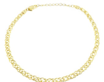Double Curb Chain Choker Necklace