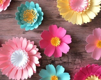 Mixed Flowers - Paper Flowers - Table Centerpiece - Home Decor - Party Decor - Flower Backdrop - Table Scatter - Photo Prop - Wedding Decor