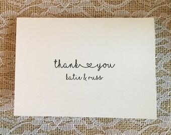 Wedding Thank you cards - Simple Elegance