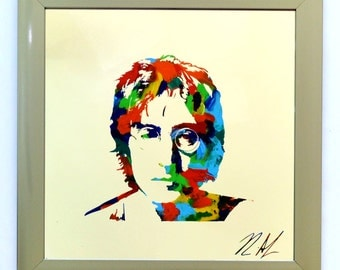 John Lennon Painting ~ Beatles Art ~ John Lennon Imagine ~ Beatles Album Art ~ John Lennon Glasses