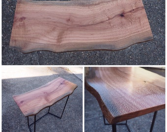 Recycled Sycamore live edge side table