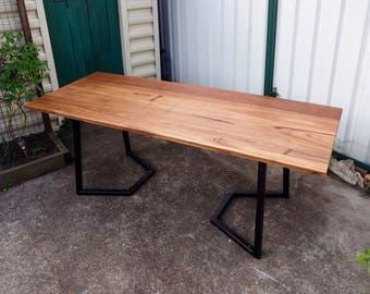 Hardwood industrial recycled dining table