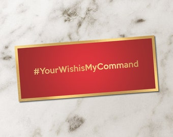 Love Coupons | Red & Gold | #YourWishisMyCommand | 3 Wishes | Fun Coupons | Digital Download