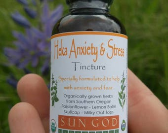 Heka Anxiety & Stress Herbal Tincture, Anxiety Stress Relief
