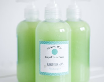 Bamboo Mint Liquid Hand Soap/ Liquid Soap/ Body Wash