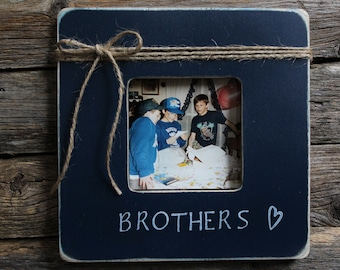 brothers picture frame favorite brother frame navy picture frame rustic picture frame