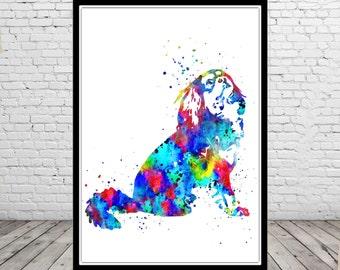 Cavalier King Charles Spaniel, Spaniel, watercolor Spaniel, Spaniel art,  Spaniel print, dog print, animal art, dog, Kids Room Decor (2478b)