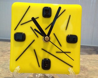 Sunflower Yellow Desk Clock