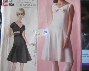 Boss Simplicity 6295 VINTAGE 1965 dress Womens size 12
