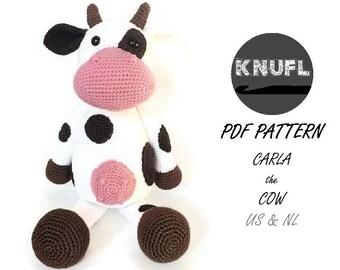 CROCHET PATTERN Cow Carla