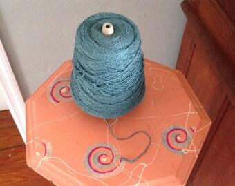 Cone of Teal Weaving Yarn