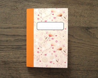 """notebook Din A6 squared """"Flowers"""""""