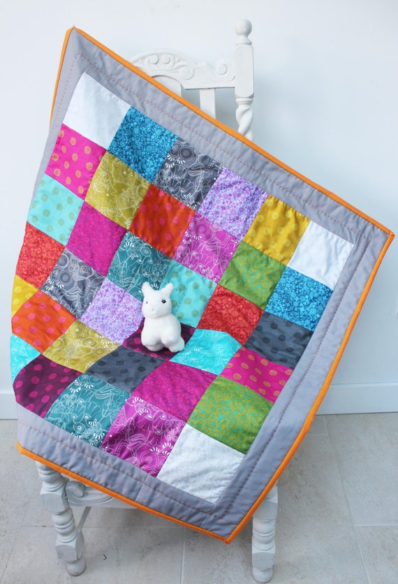 rainbow baby quilt patchwork play mat cot tummy time mat