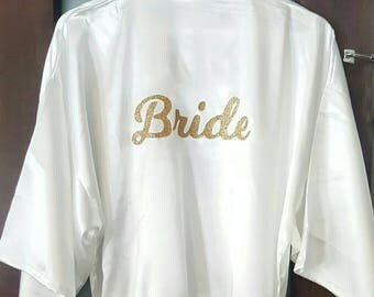 Wedding Bridal Custom Colour Robes Bridesmaid Gift