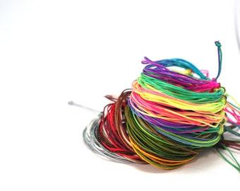 Multicolor simple friendship (of your choice) bracelets, 9 cords of nylons, closure adjustable knot in macramé, surf bracelet