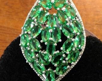 Green Quartz Ring Size 8.5