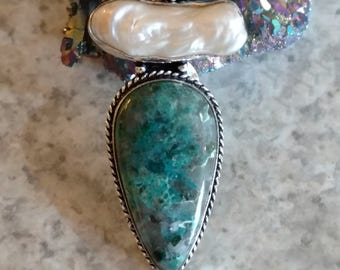 CLEARANCE *Green Jasper Pendant Necklace