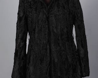 Luxury gift/ Black Persian Lamb/ Fur coat/Wedding,or anniversary present